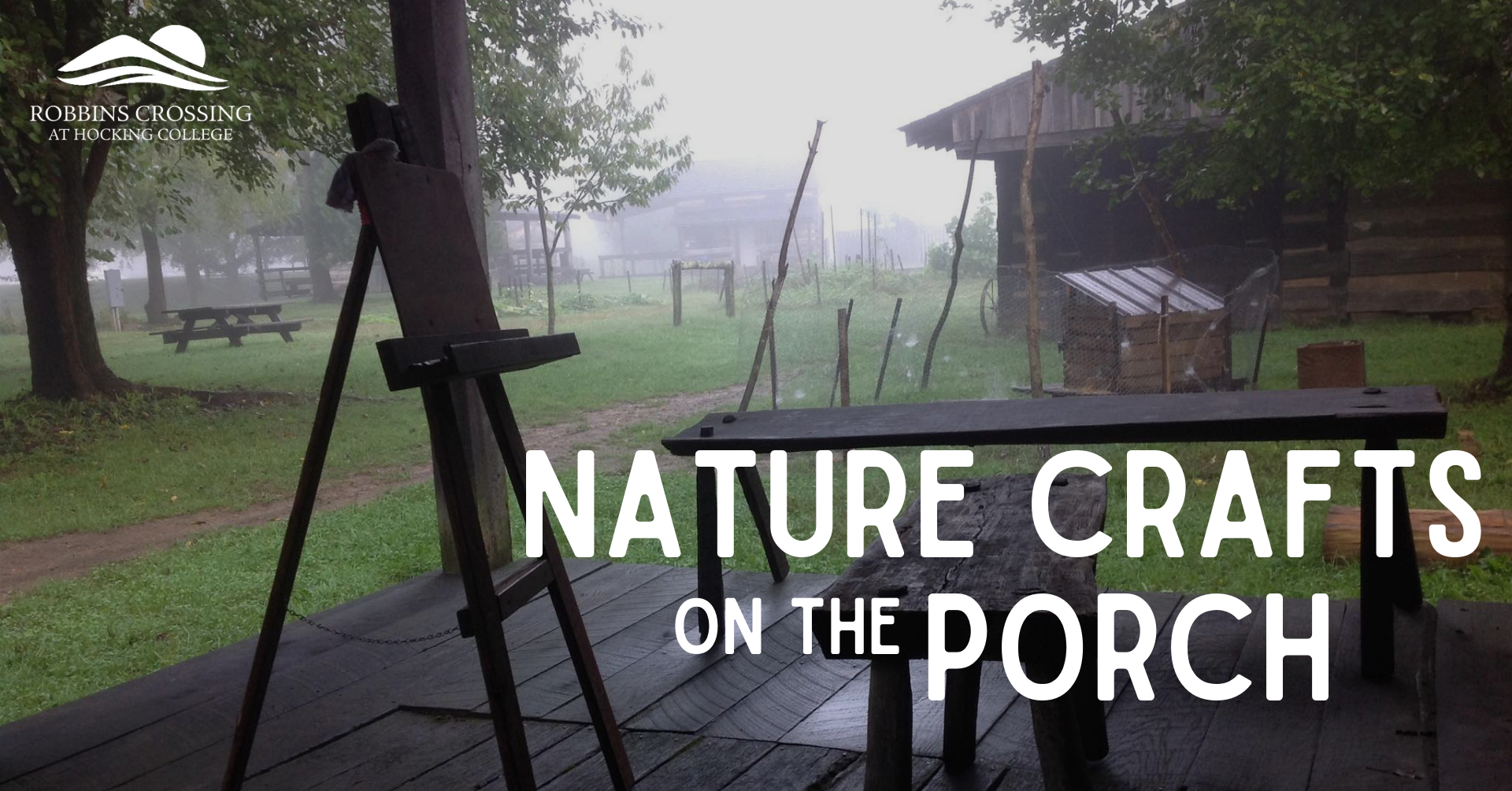 Nature Crafts on the Porch